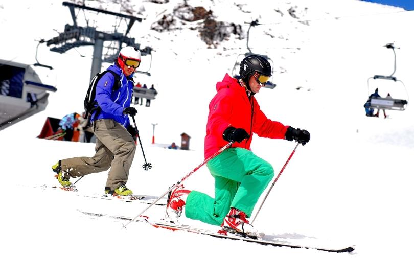 CHAPELCO 2013 - Antoine Bouvier  dando clase de Telemark