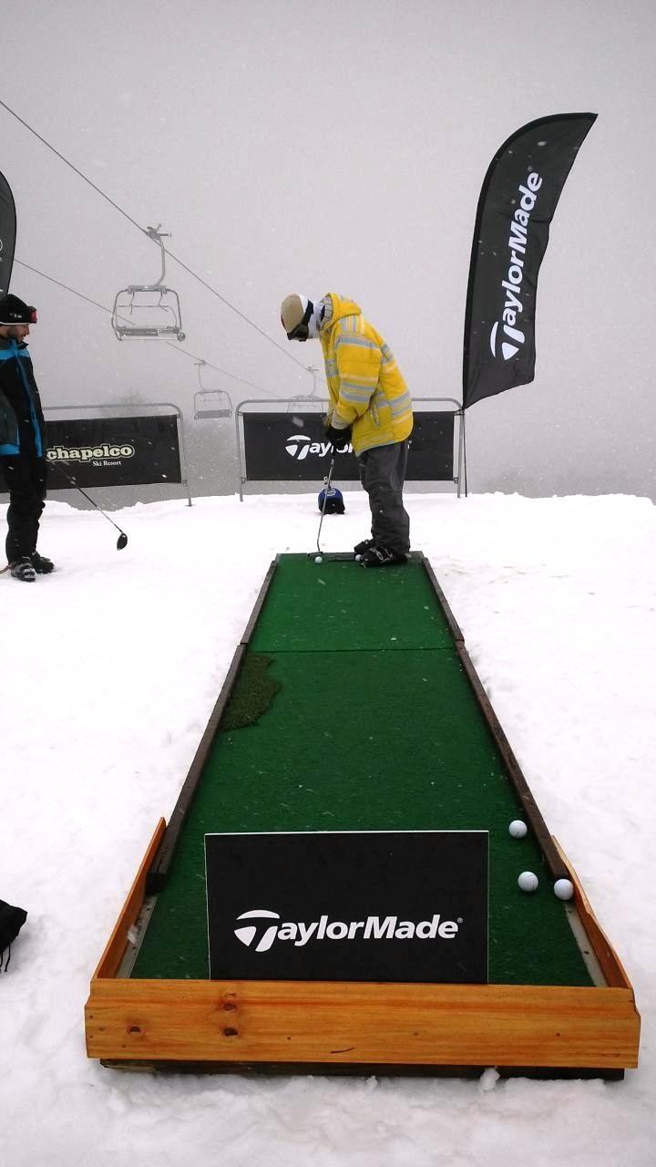 Chapelco 2014 - Golf en la nieve