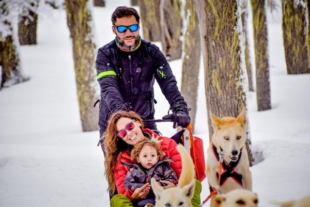 Diego Torres, Deborah Bello y su hija Nina