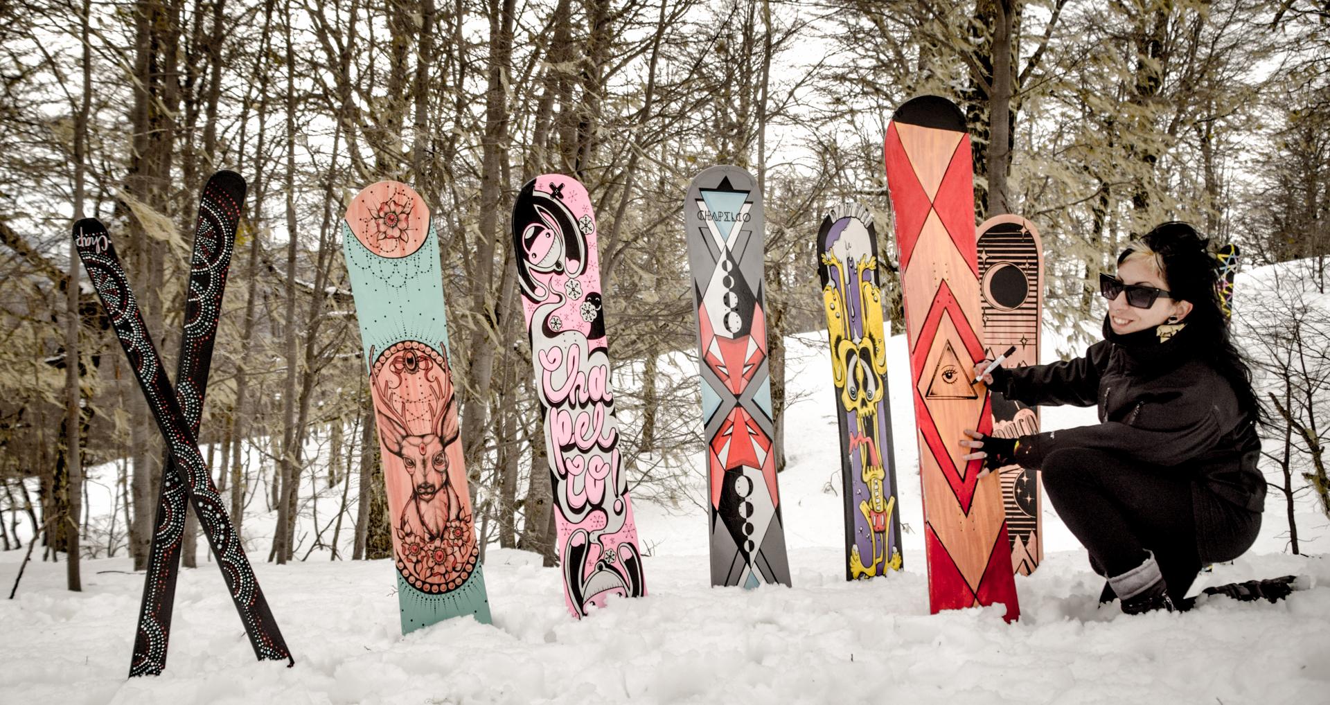 Tablas de snowboard y cascos: obras de arte únicas – Prensa Chapelco ...