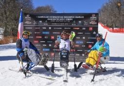 podio slalom gigante campeon argentino categoria sentados chapelco 2015DAC_7187