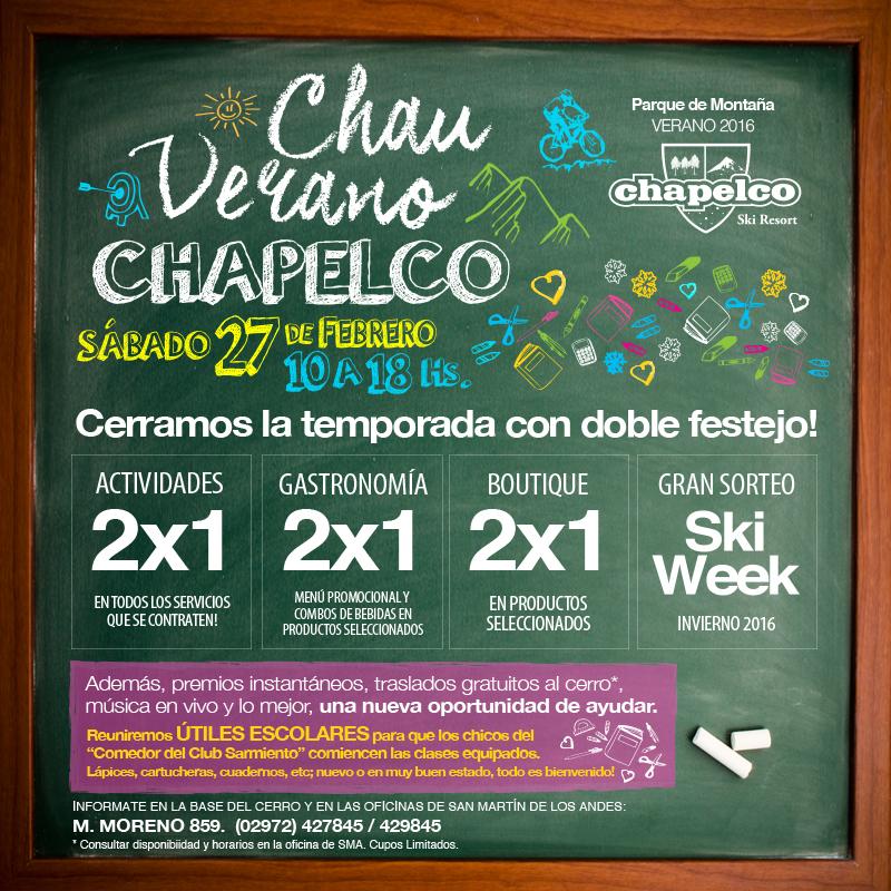 #ChauVeranoChapelco