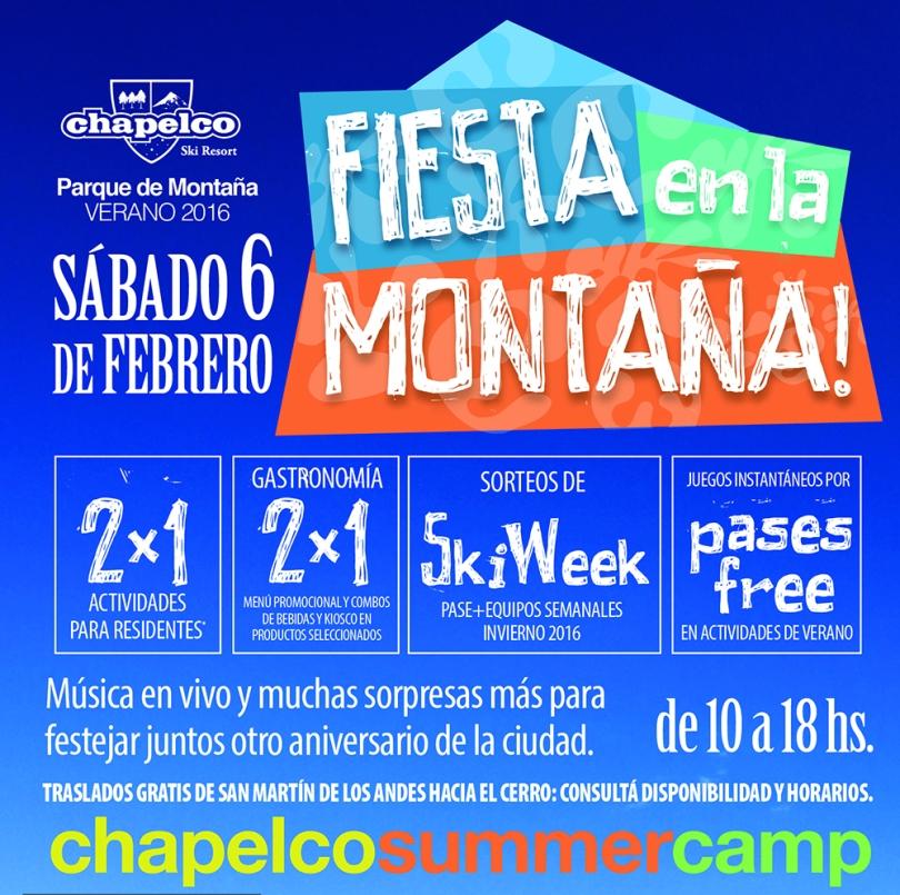 Flyer Fiesta en la Montaña