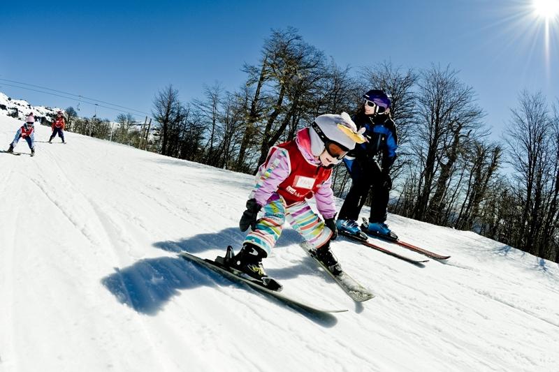 Chapelco clase de esquí jardín de nieve